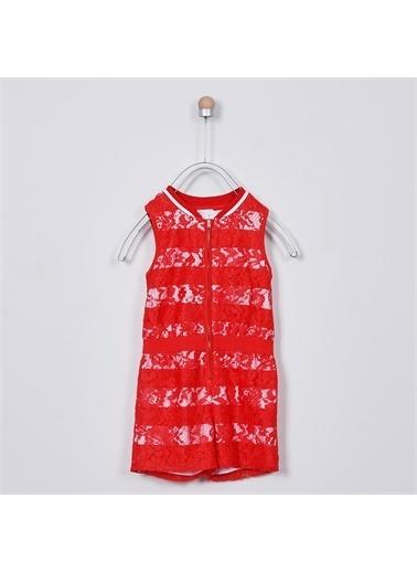 Panço Kız Çocuk Örme Salopet 2011GK24009 Kırmızı